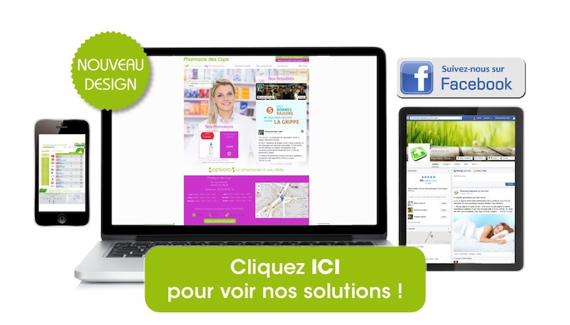 Site click and collect pour pharmacie